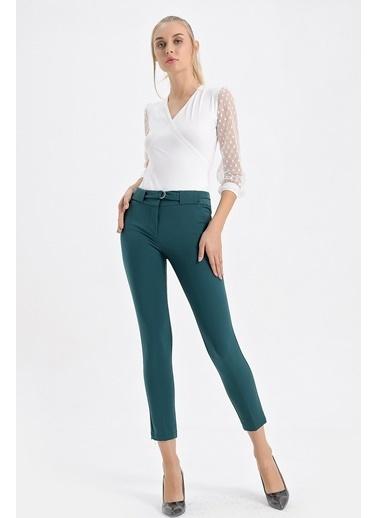Jument Dream Yüksek Bel Kemeri D Tokalı Pantolon Yeşil